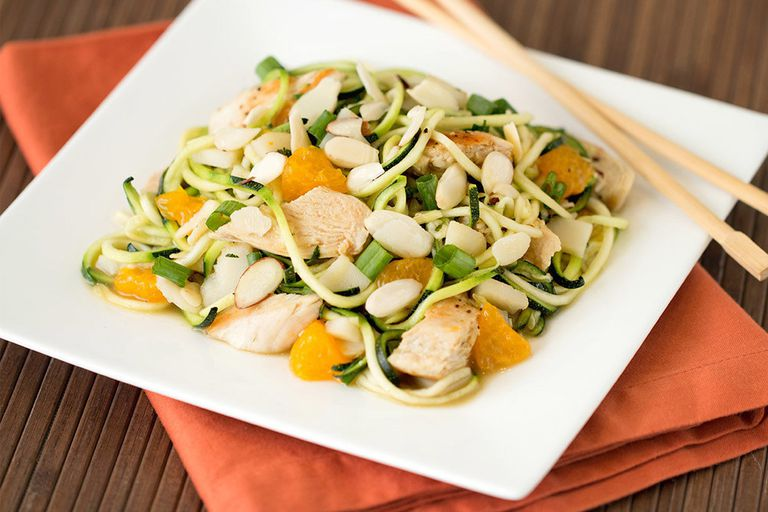 Healthy Recipes to Bring on a Picnic: Zucchini-Noodle Chinese Chicken Salad