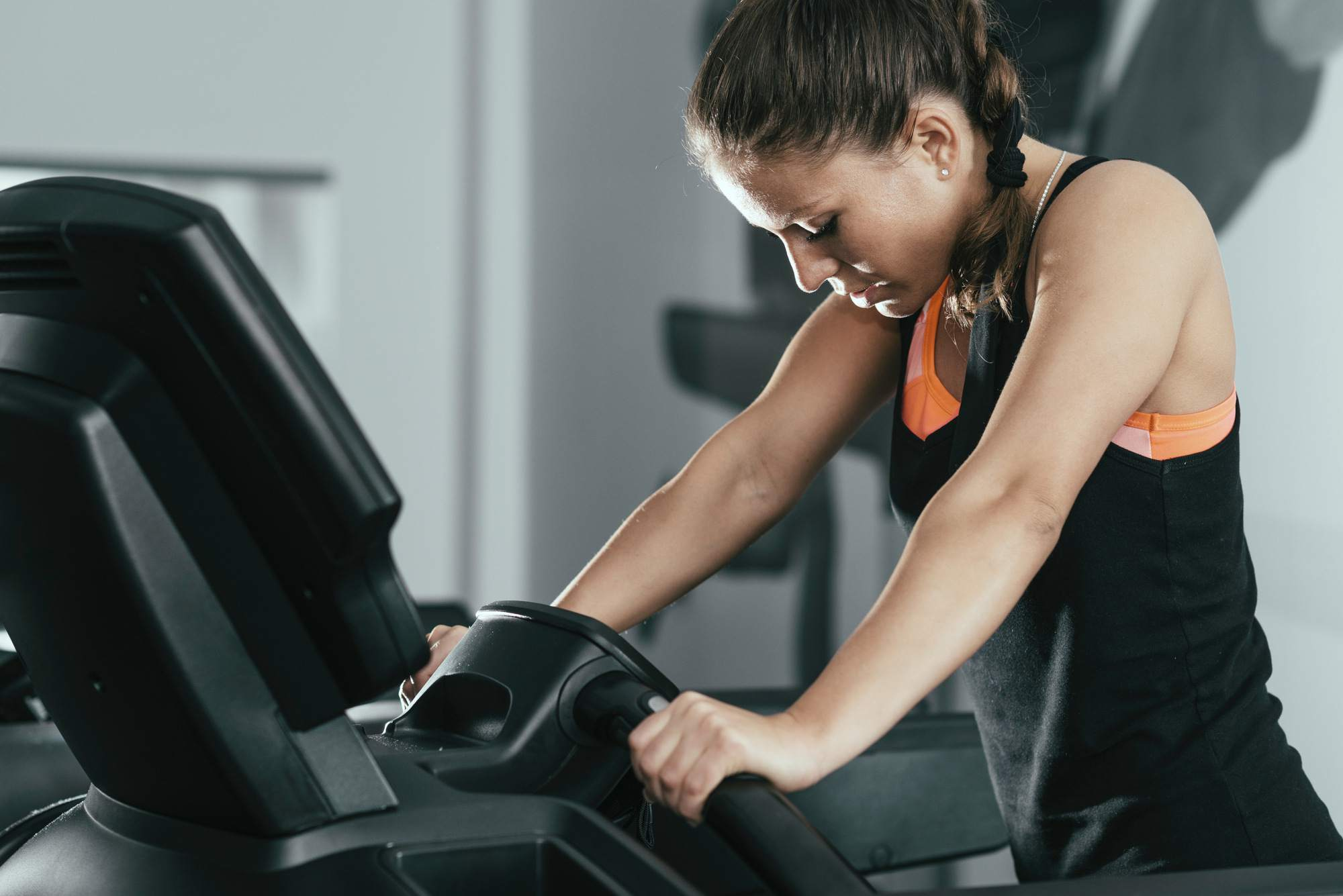 Tired Woman on a Treadmill