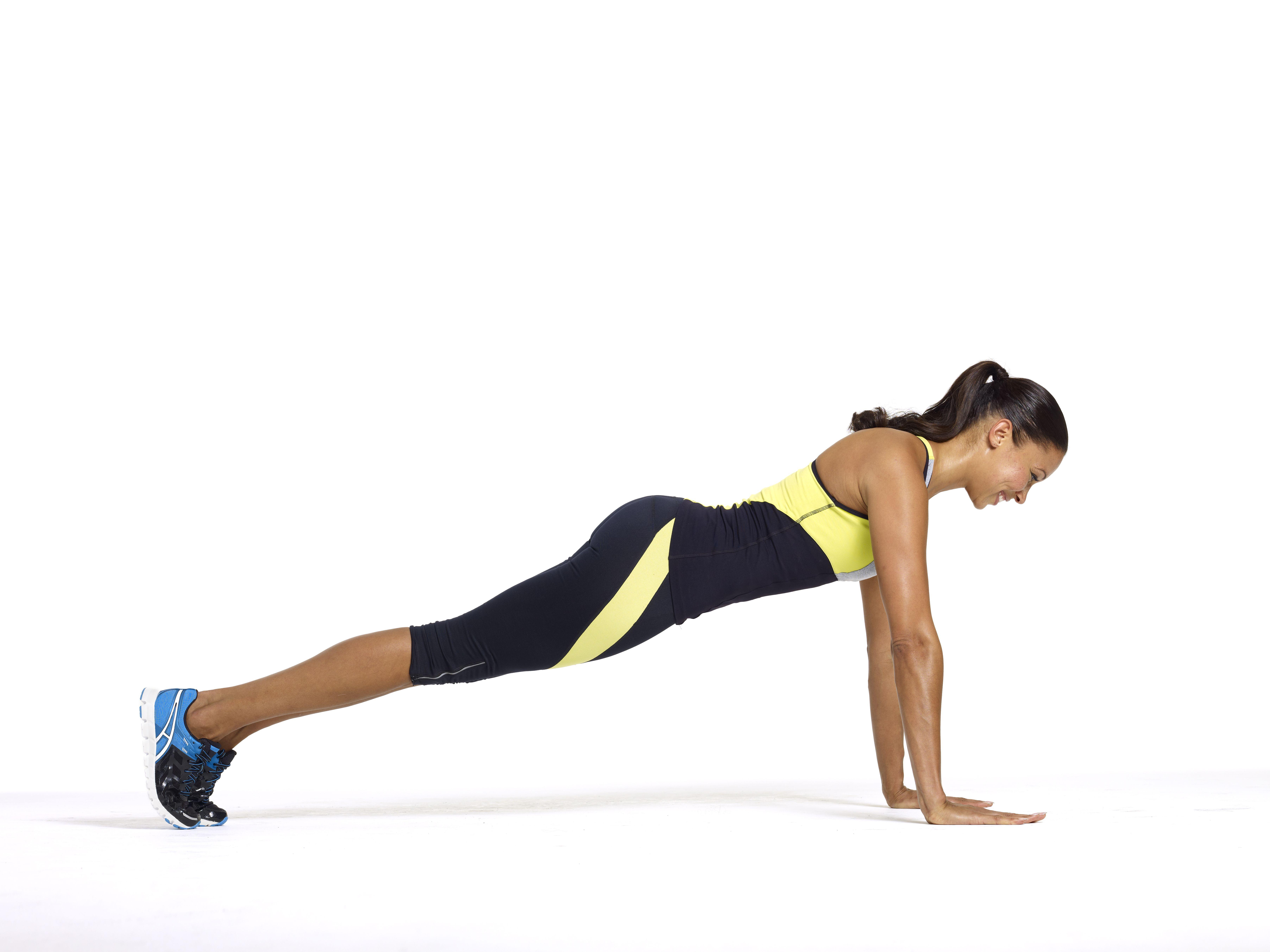 Posición de tabla de yoga
