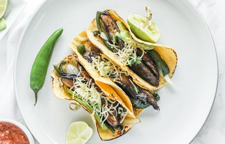 Poblano Portabella Mushroom Tacos