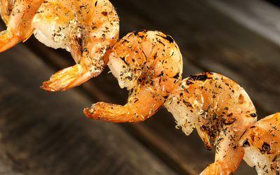 Grilled Shrimp close up