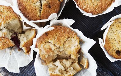 Board of apple muffins