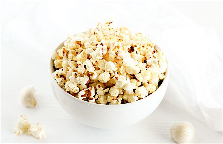 Low Sodium Garlic Parmesan Popcorn