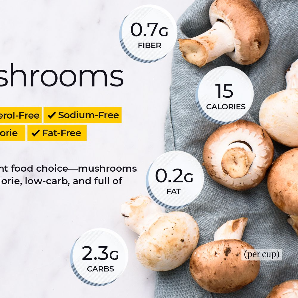 Mushroom Nutrition Facts And Health Benefits