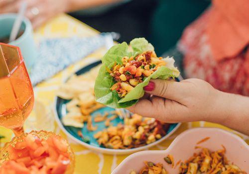 Taco de lechuga sin gluten