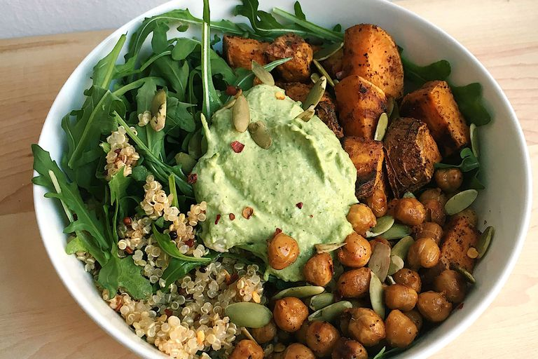chickpea grain bowl