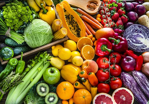 A rainbow of fruits and vegetables