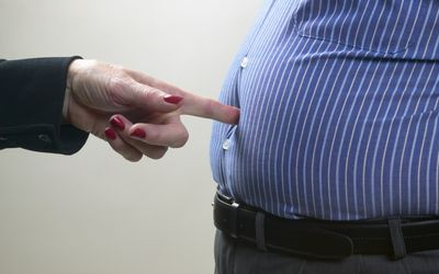 visceral fat in the belly area