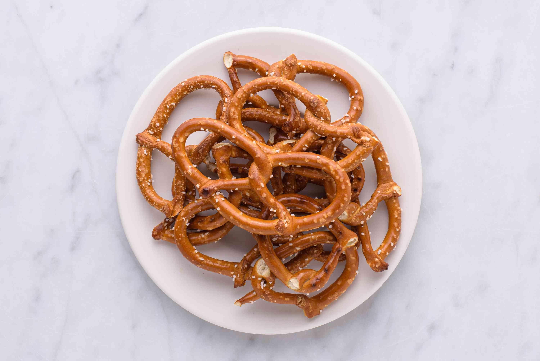 pretzels on a plate