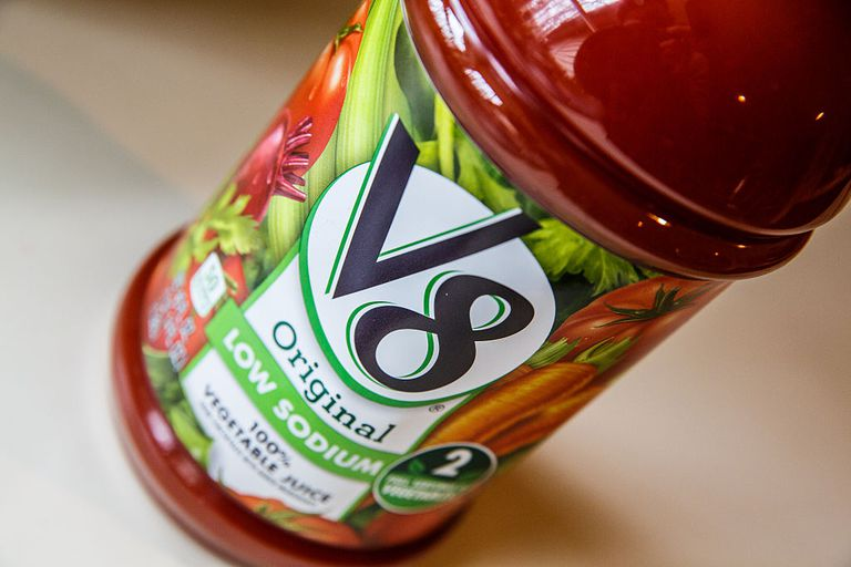 V8 Nutrition and calories