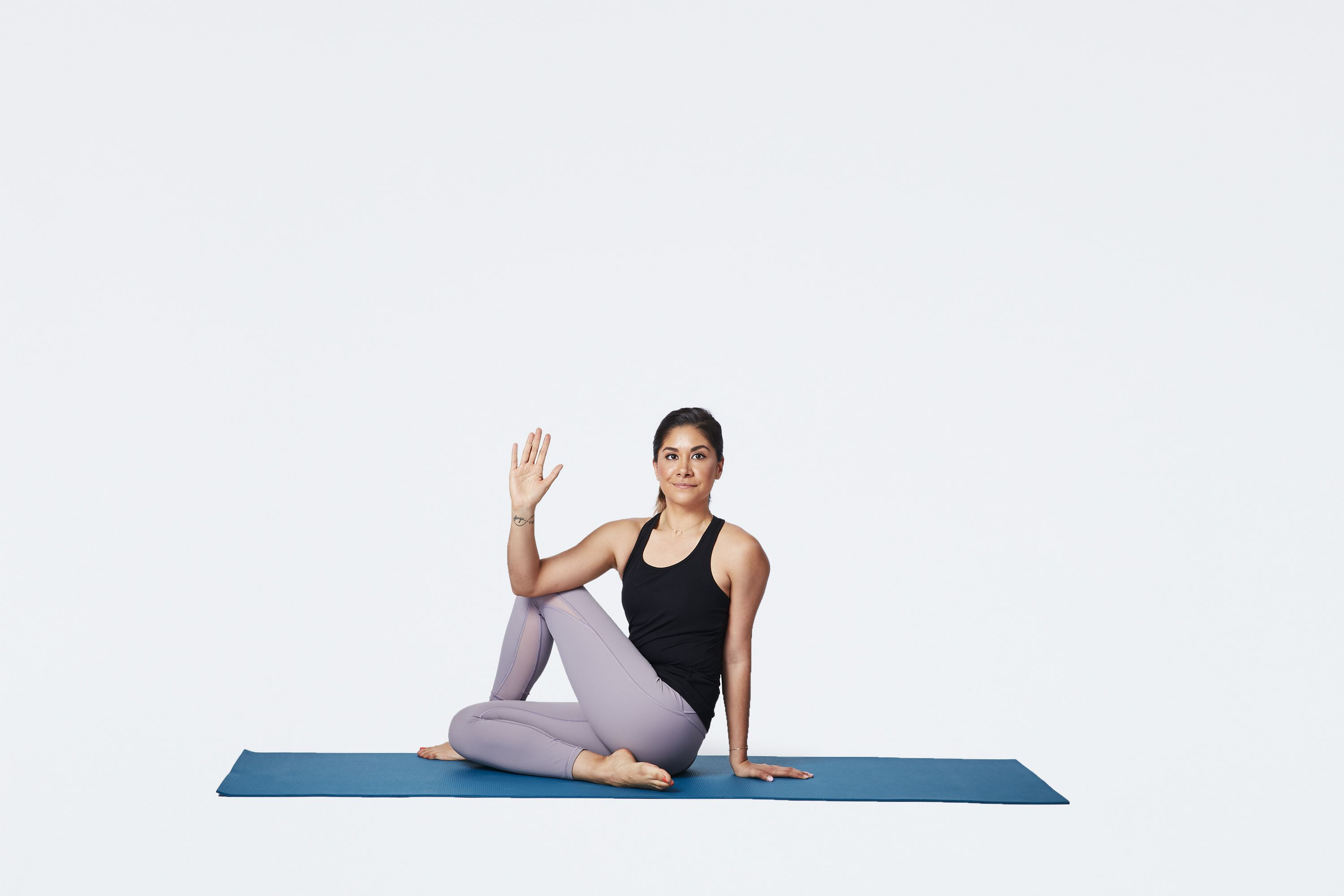 Seated twist pose - Verywell Fit
