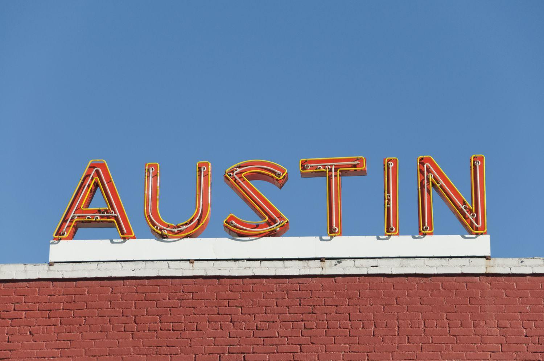 Letrero de neón de Austin