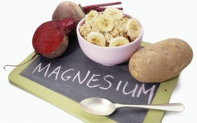 Foods high in magnesium.