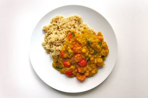 Yellow Dal With Quinoa