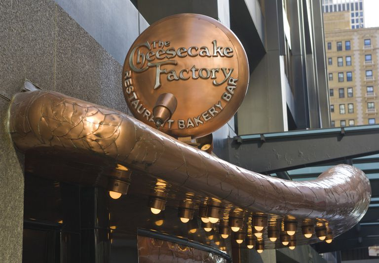 Cheesecake Factory restaurant awning in Chicago
