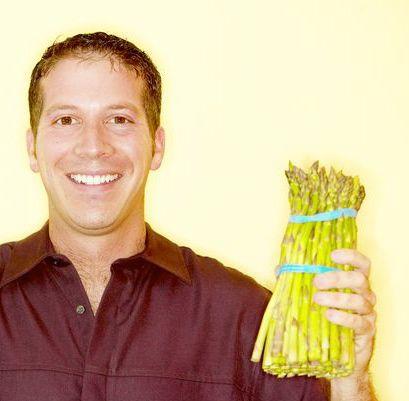 guy with asparagus