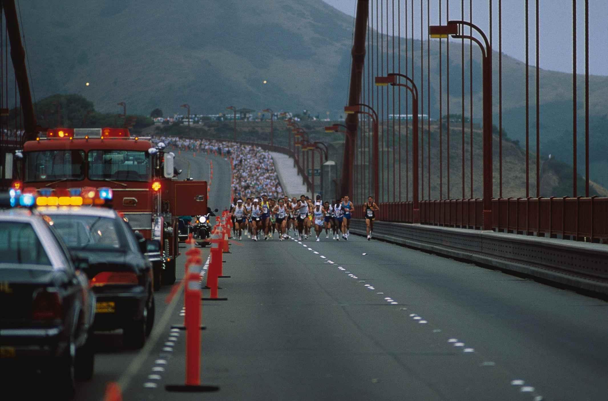 marathon over bridge