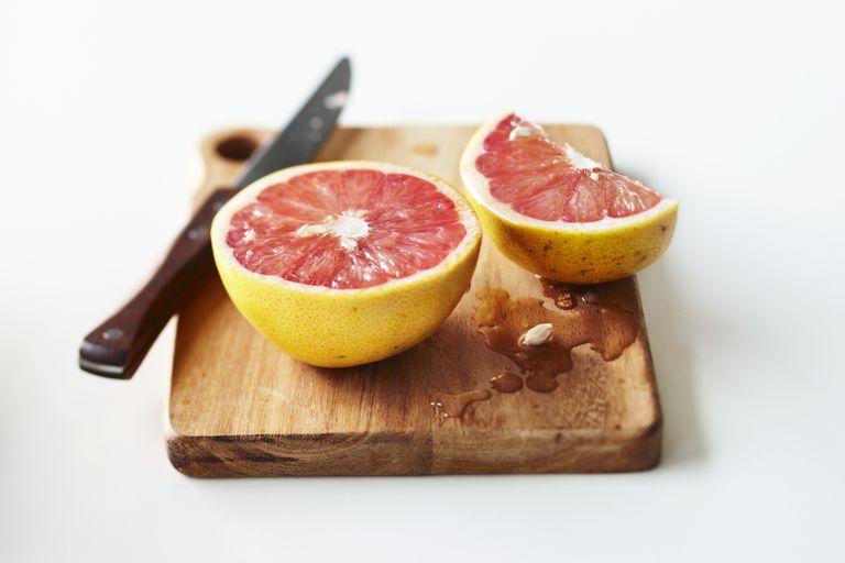 grapefruit is high in vitamin c
