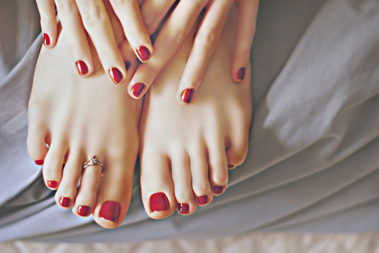 A manicure and pedicure.