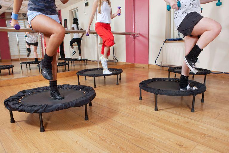 trampoline workout jogging