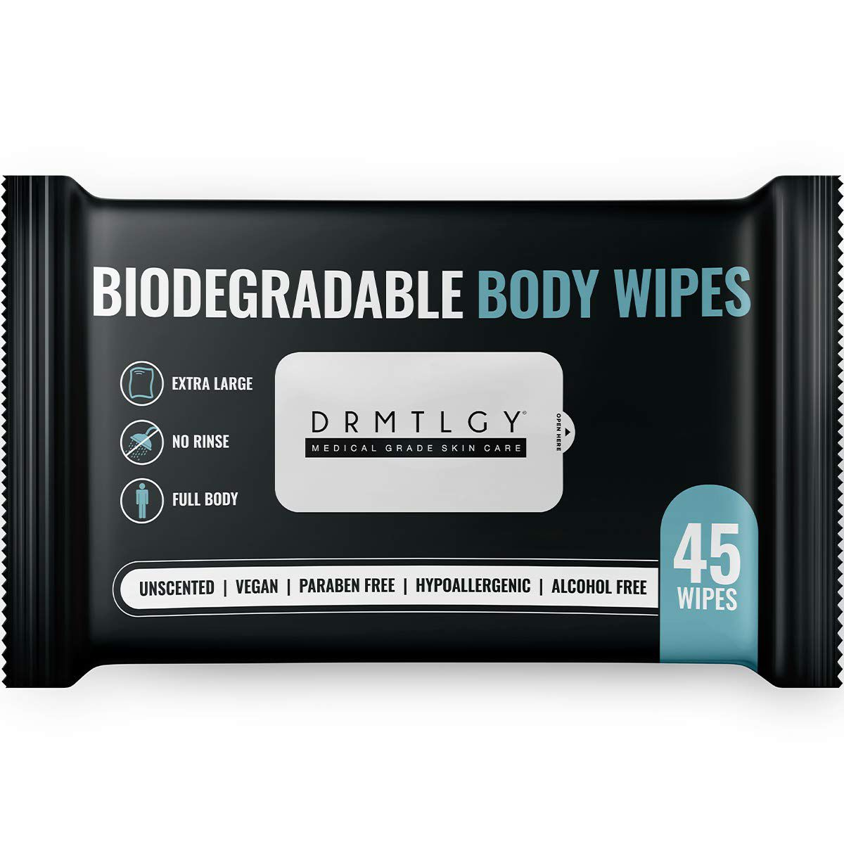 DRMTLGY Body and Face Shower Wipes