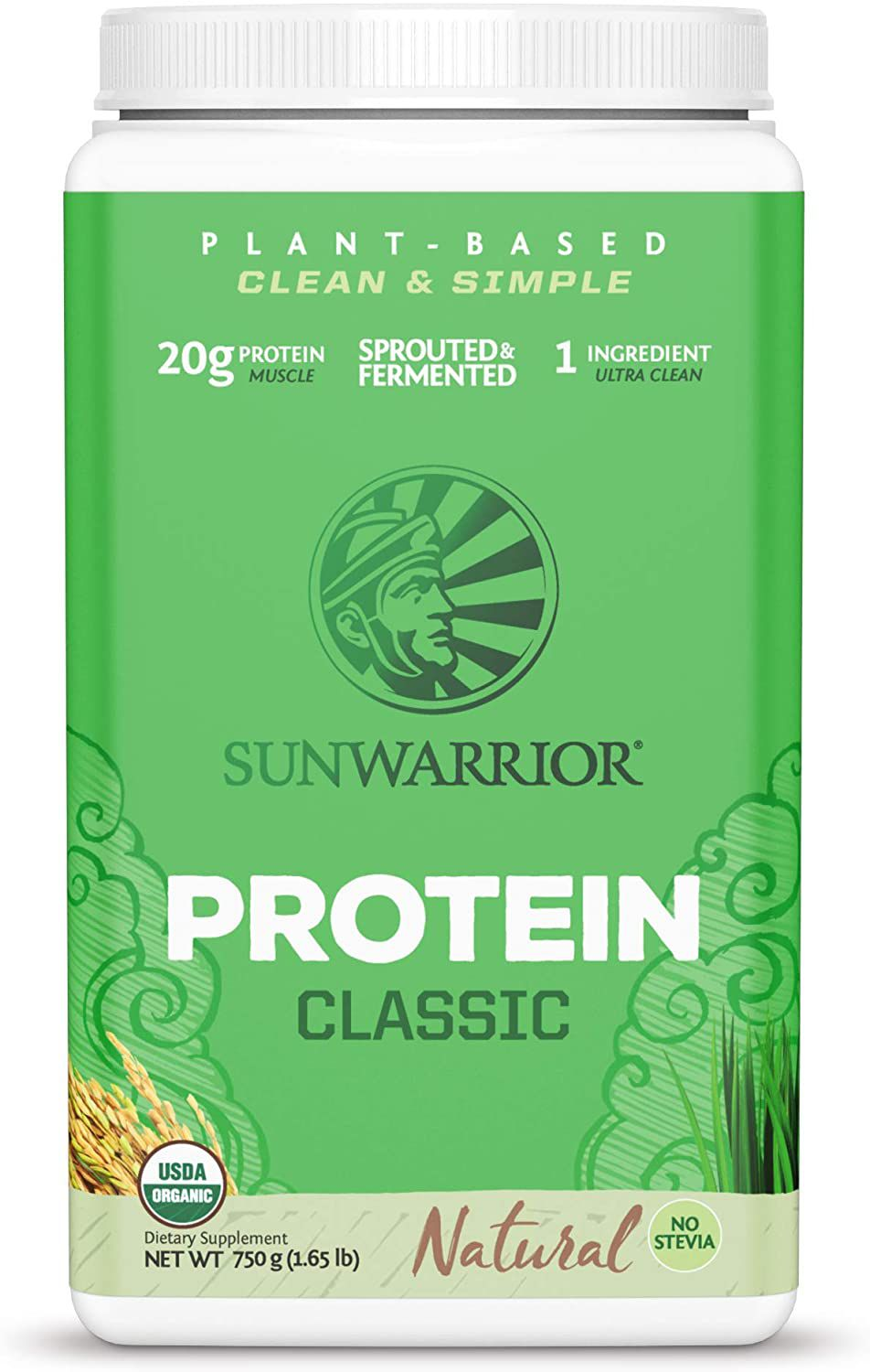 Sunwarrior Classic Vegan Sprouted Brown Rice Protein Powder