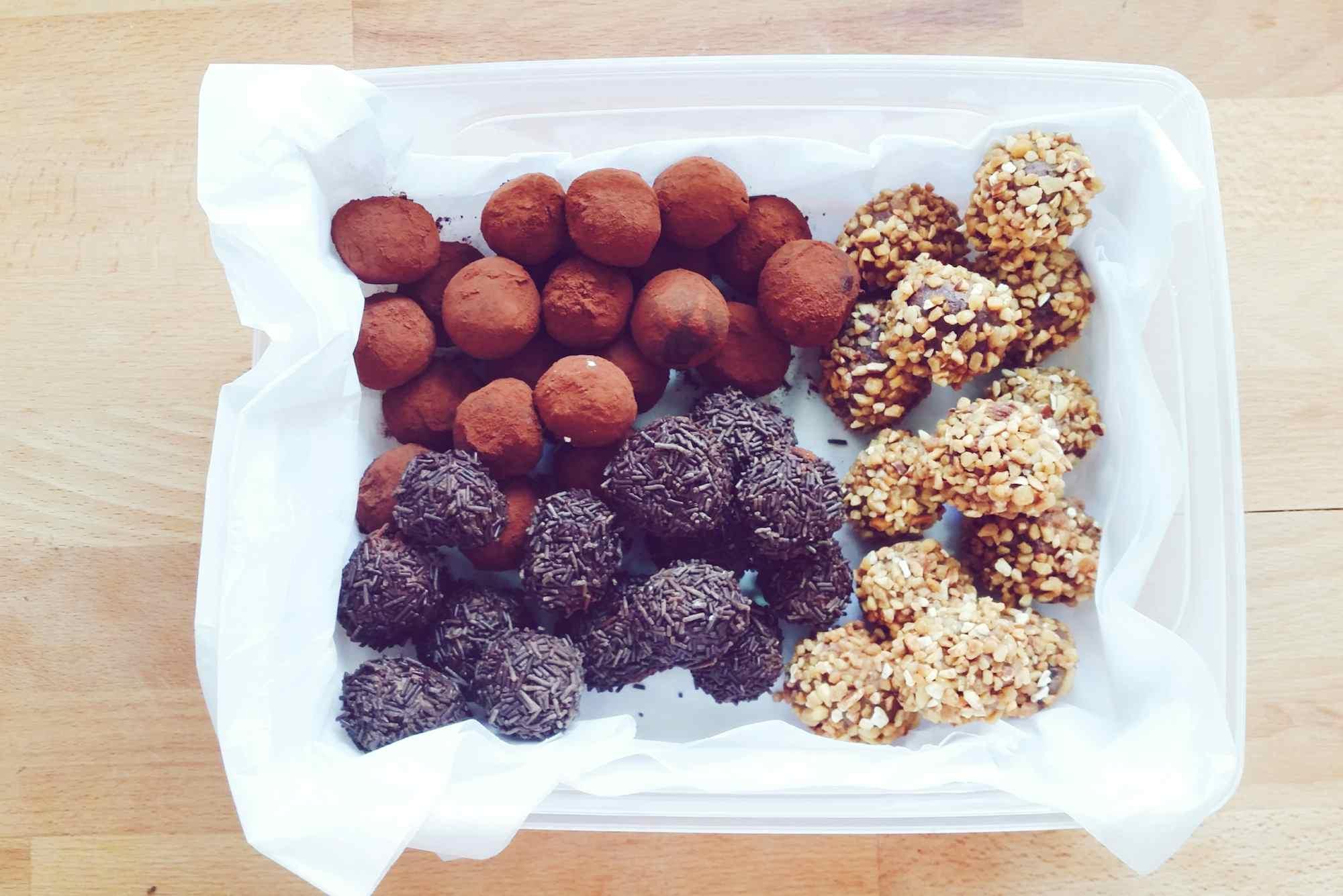 Assorted homemade Chocolate truffles