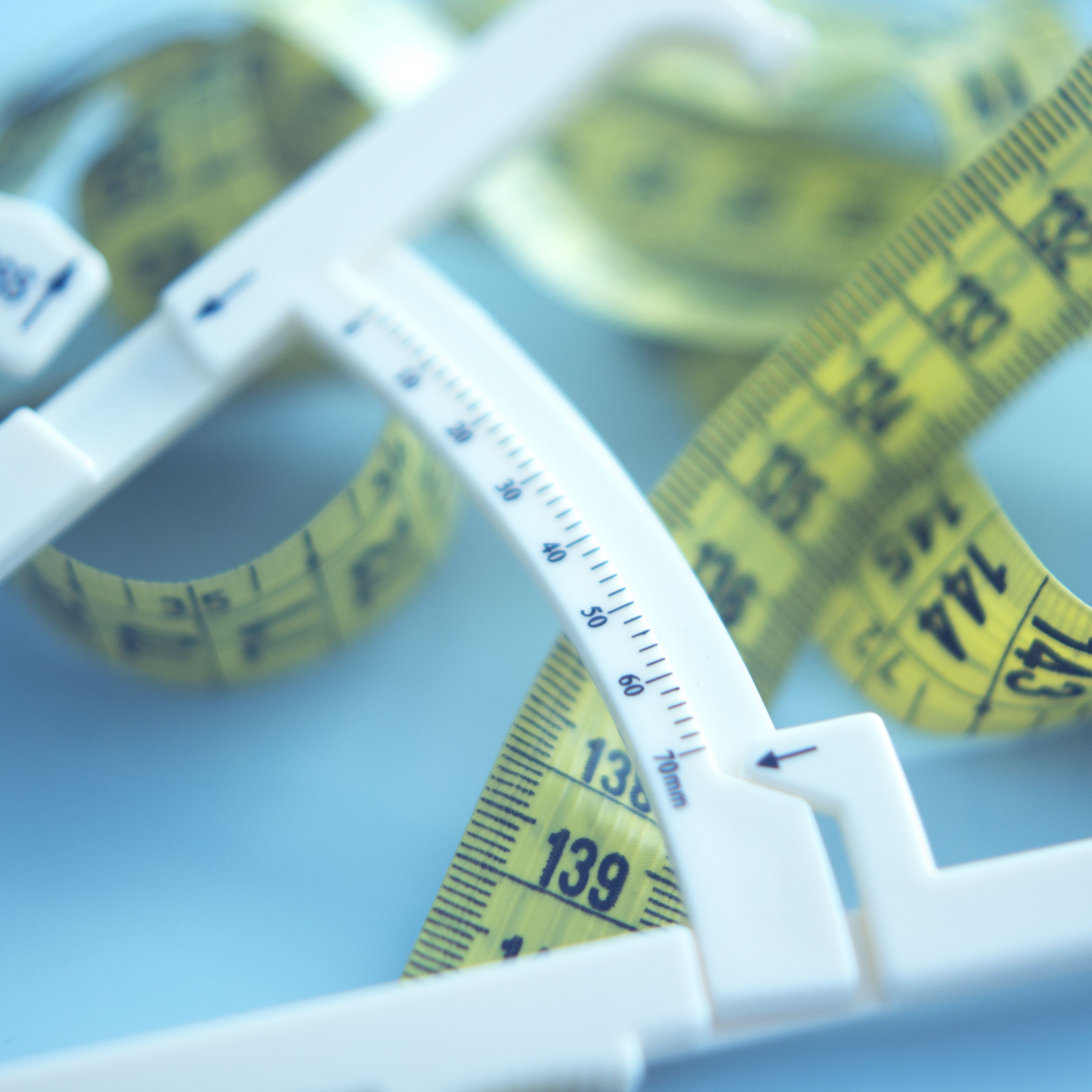 Body Fat Tester Caliper tape Measure Caliper Analyzer Tool Keep Diet Health