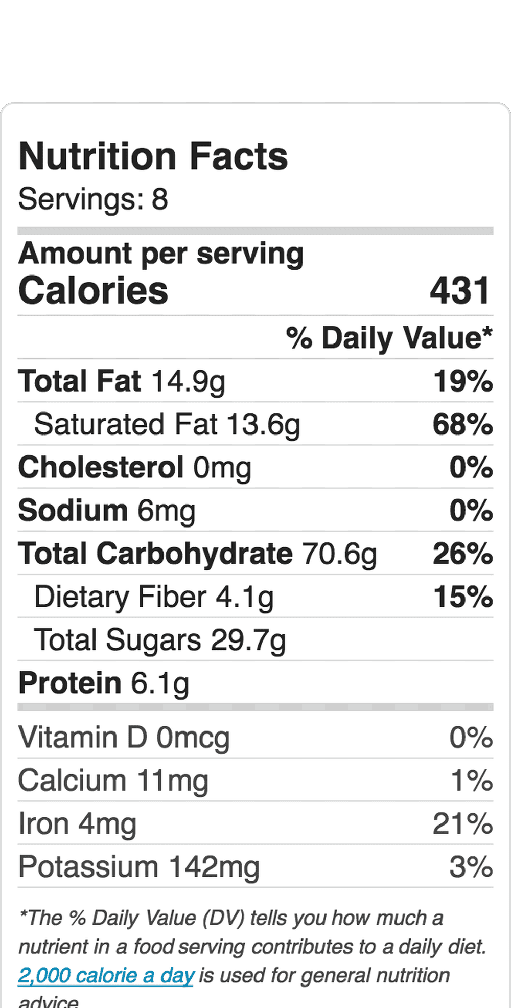 Nutrition Label Embed 1164245021 5b8c6829c9e77c0050d0f833