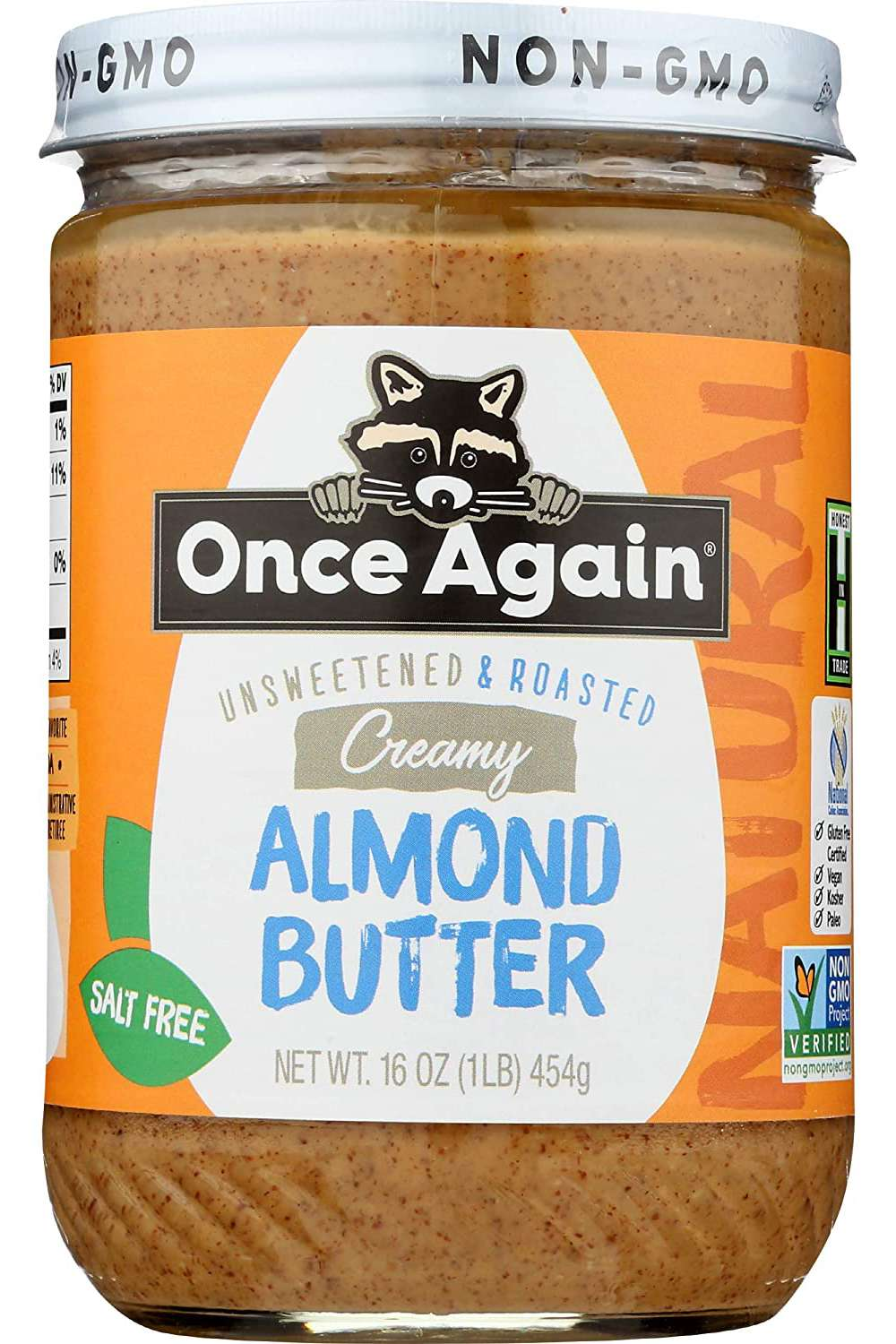 Once Again Unsweetened & Roasted Creamy Almond Butter