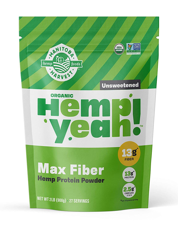 Manitoba Harvest Hemp Yeah! Organic Max Fiber Protein Powder
