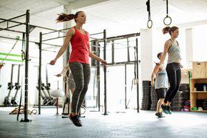 Women jumping rope
