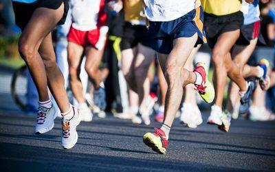 Runners in a marathon