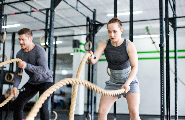 ejercicios de cuerda de batalla