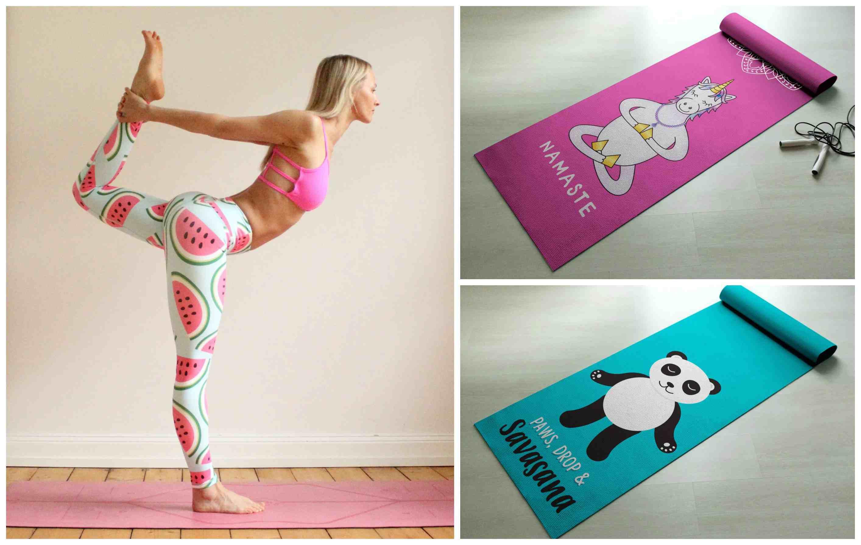 pantalones y colchonetas de yoga