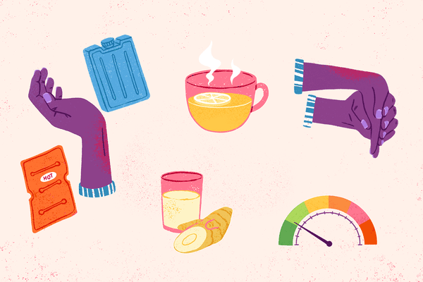 illustrations of wrist pain remedies