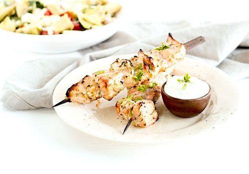 grilled salmon kebabs
