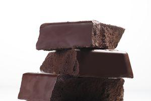 Stacked Chocolate Chunks - stock photo