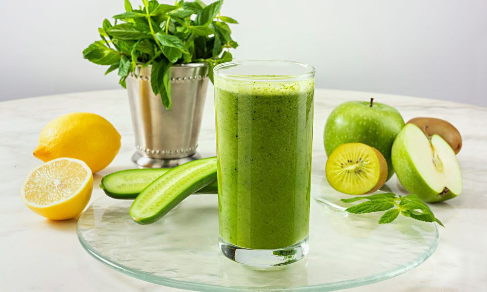 Green Detox Drink - stock photo