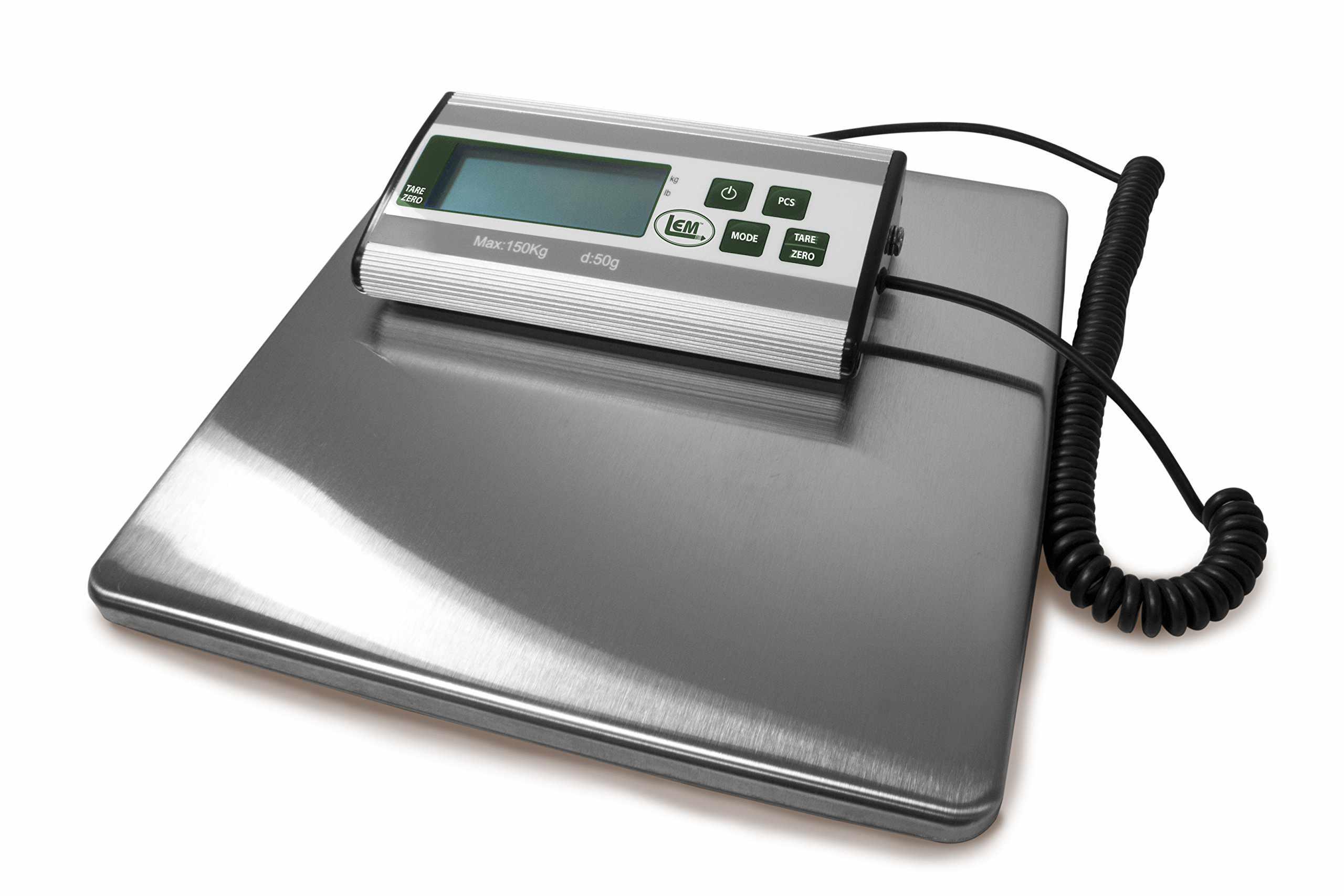 LEM 330 lb. Stainless Steel Digital Scale