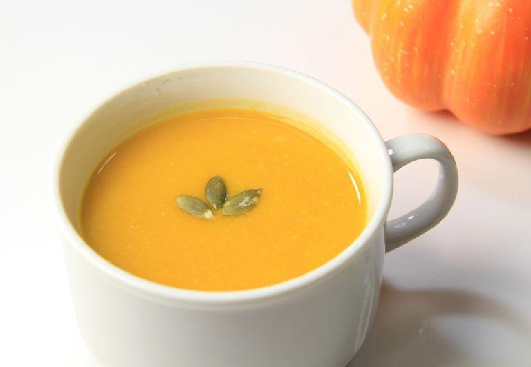 Healthier creamy pumpkin soup