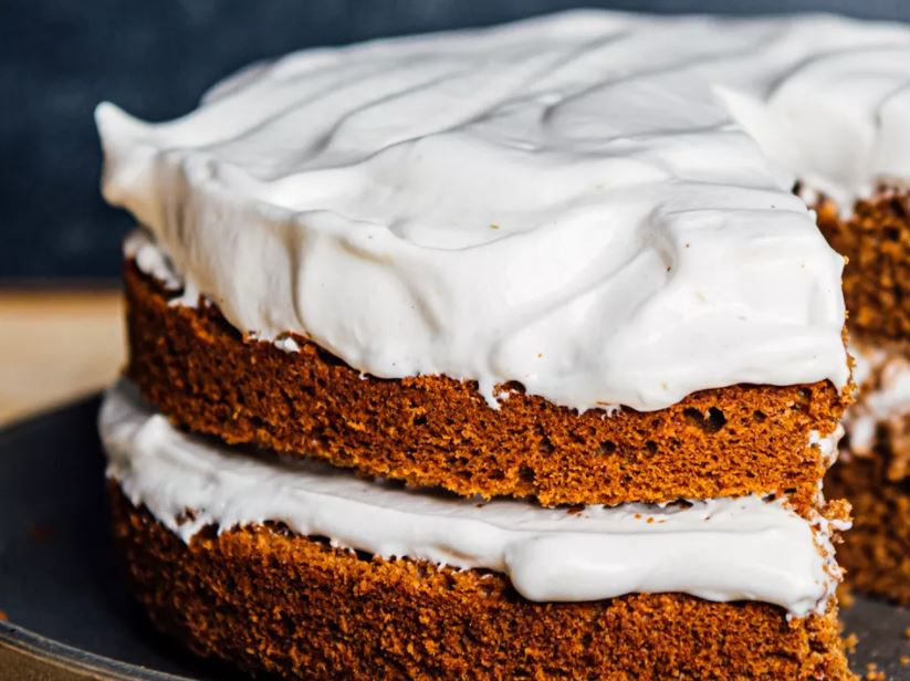 cake with meringue frosting