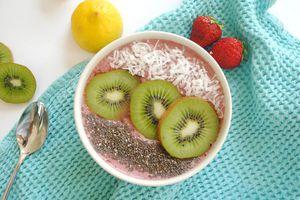 Cherry berry smoothie bowl