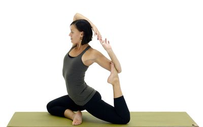 work your core with standing balance yoga poses