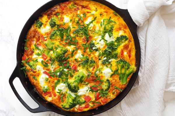 broccoli and goat cheese frittata