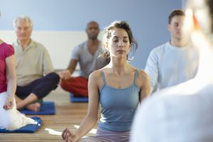 yoga class meditation