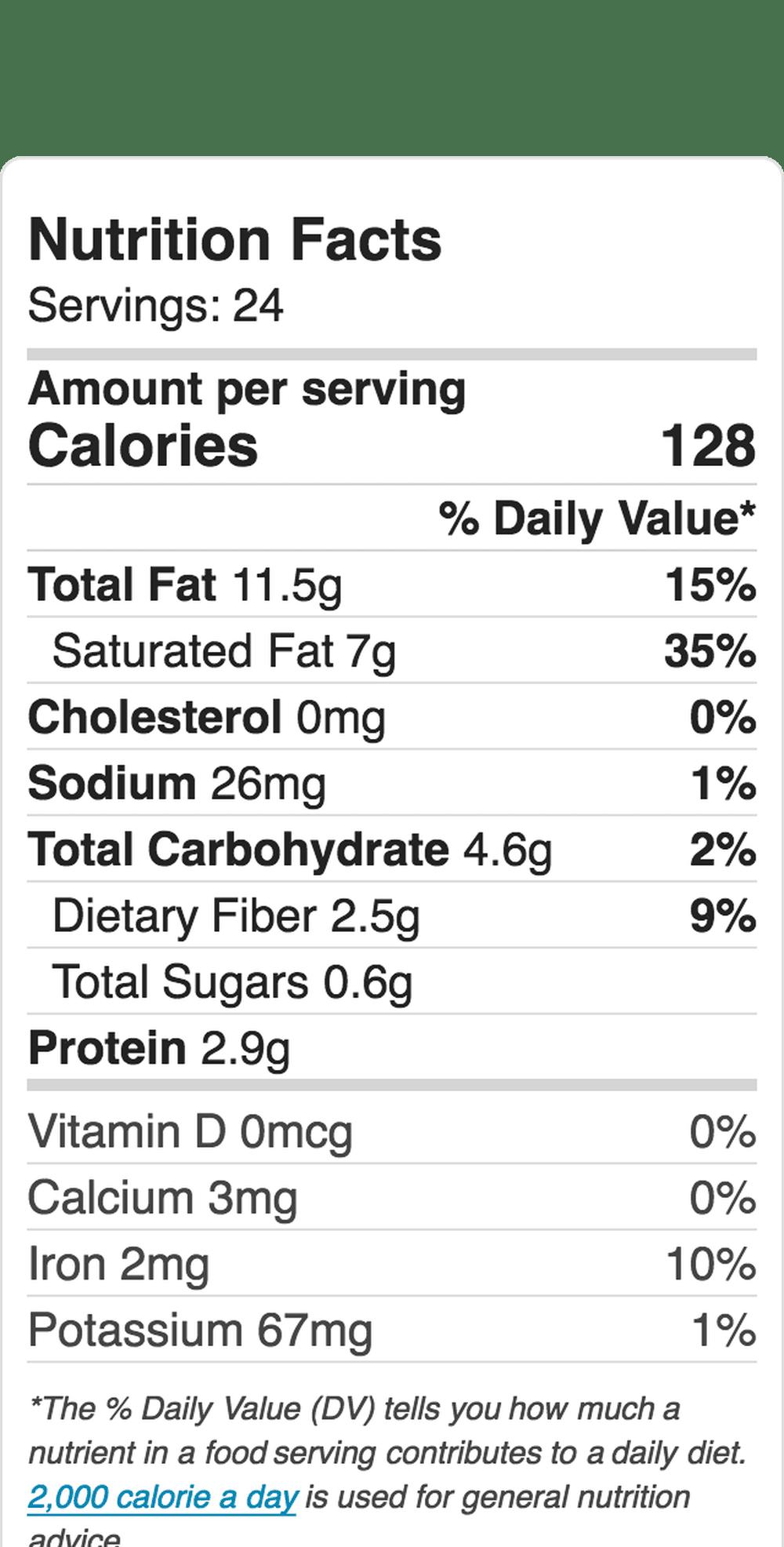 Nutrition Label Embed 209586959 5B3F8B37C9E77C0037Ea74D5