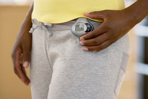 Pedometer on a waistband