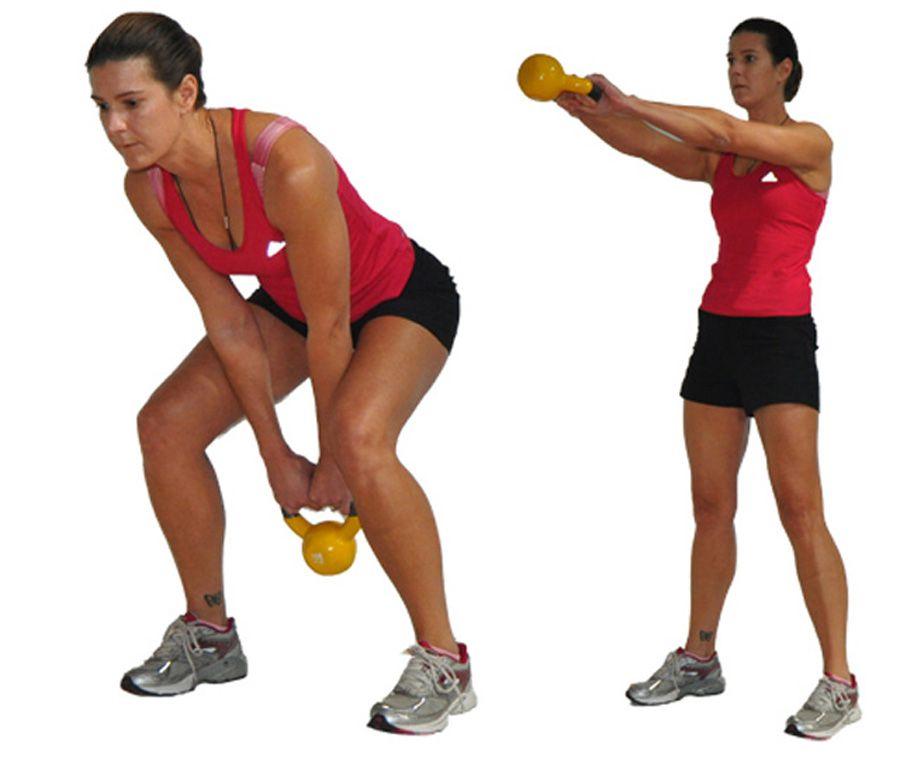 Kettlebell 2 Arm Swing