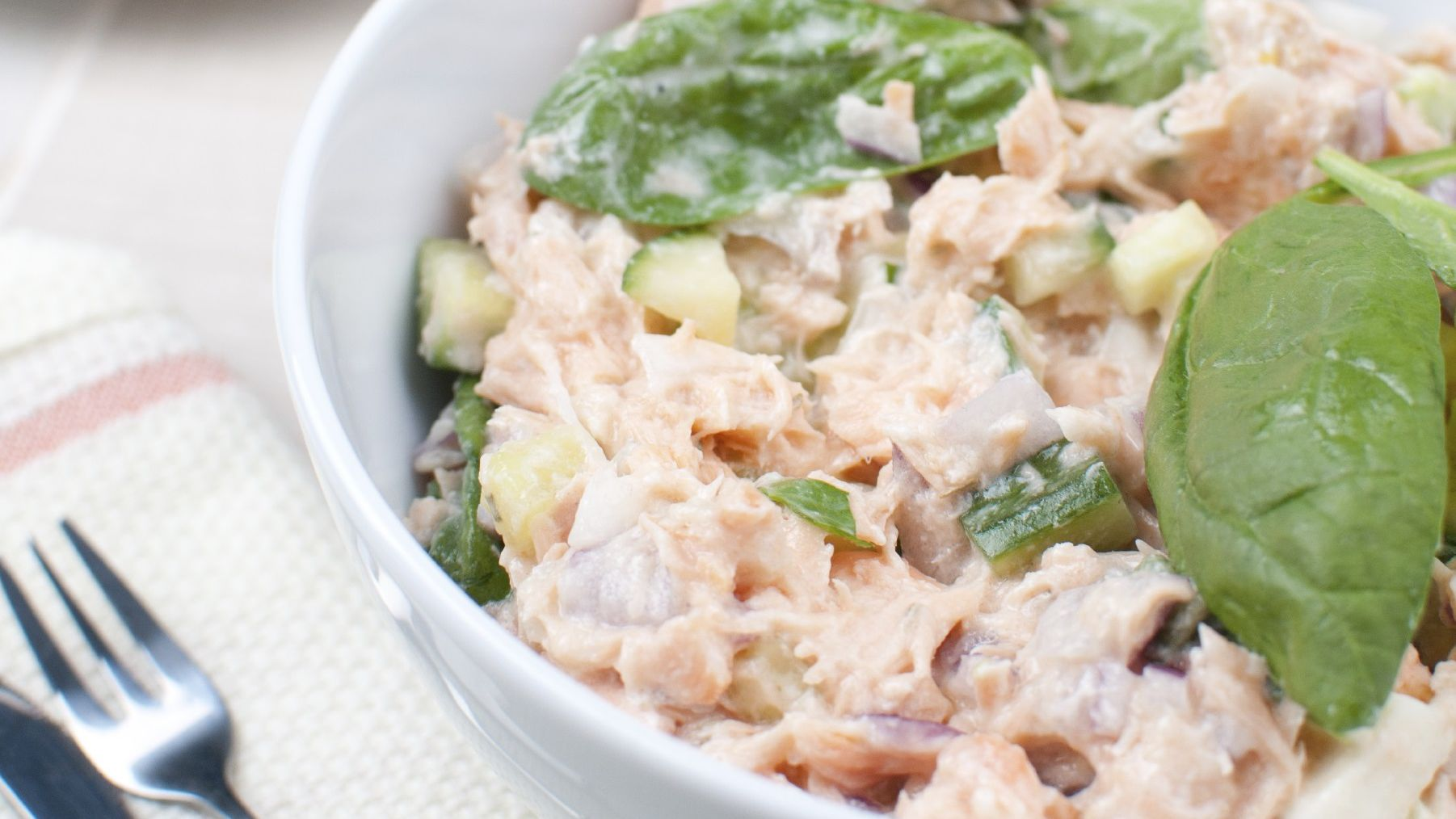 Healthy Salmon Salad With Celery Recipe